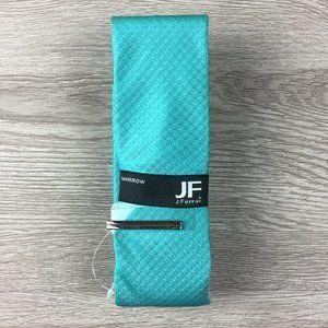 JF J. Ferrar Mint Green Patterned Narrow Tie